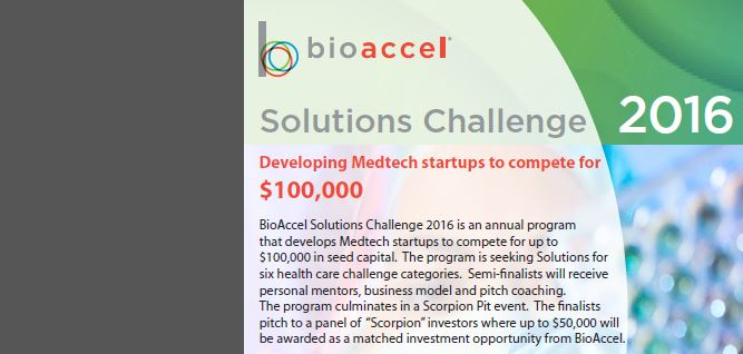 Call for Entries - BioAccel Solutions Challenge 2016